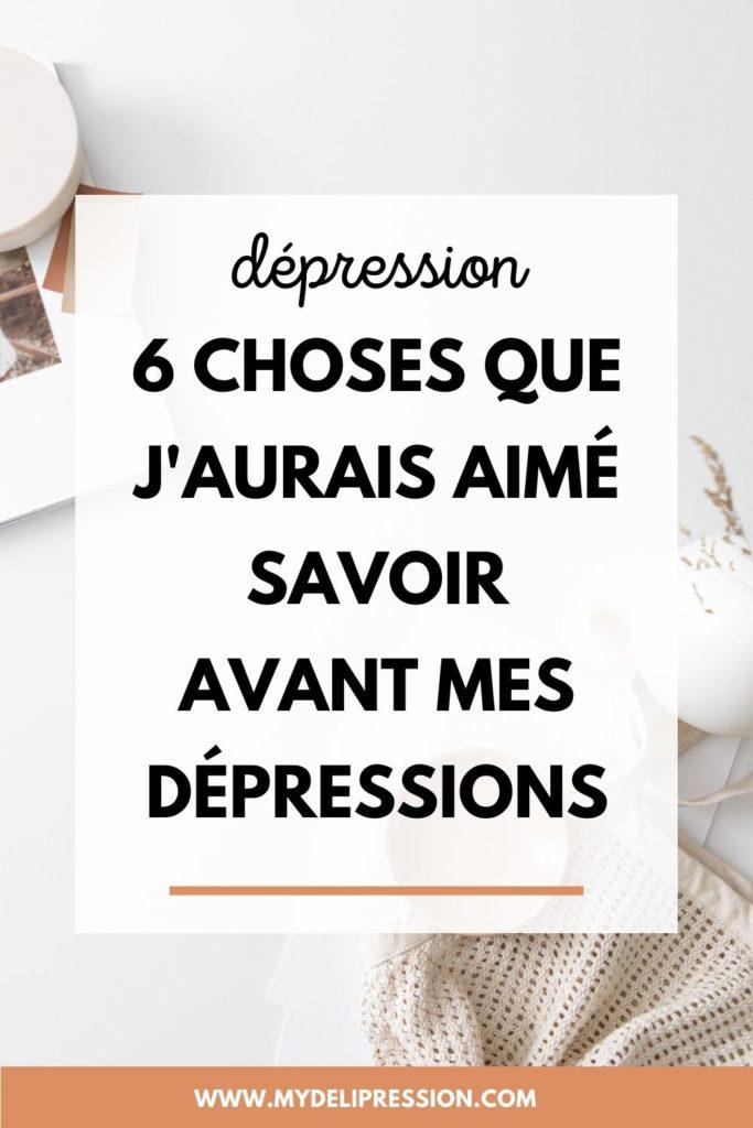 savoir dépression