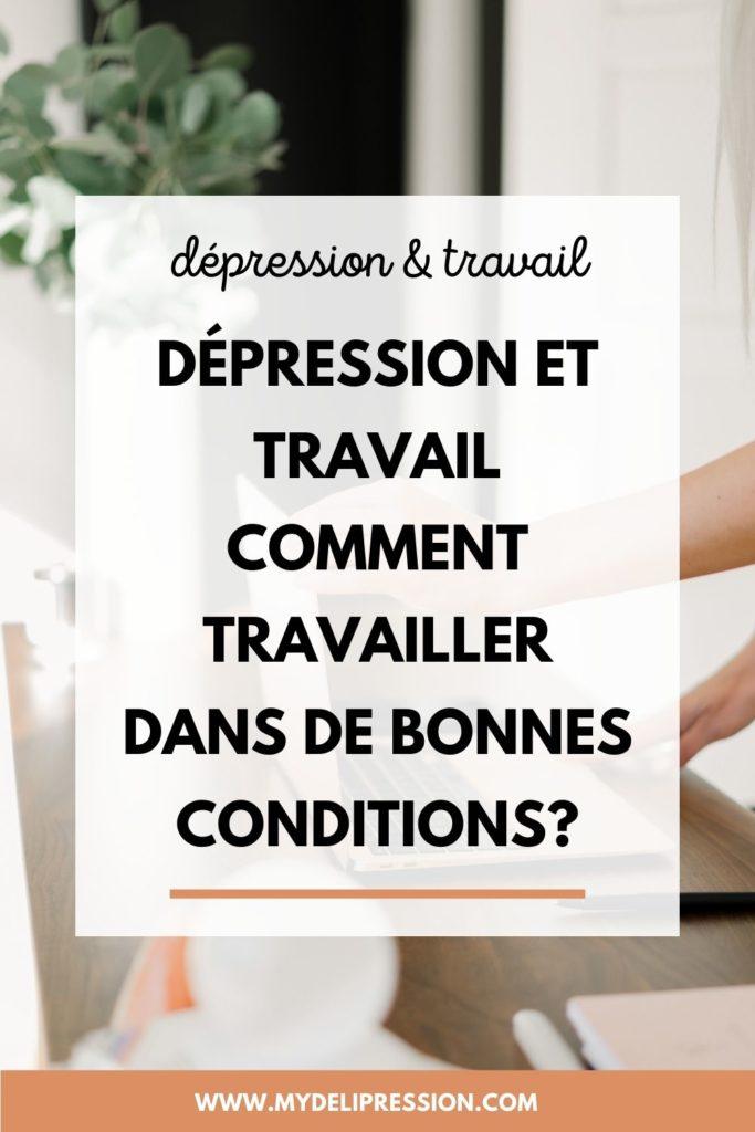 dépression et travail